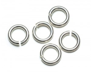 5 Piercing Ringe silber