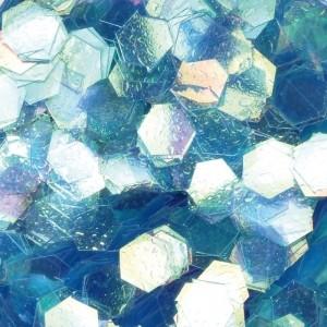 Hexagonal Design, Royalblau