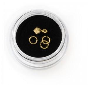Piercing Ring mit Würfel-Gold