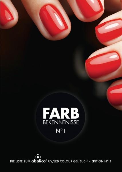 Bestell-Liste Farbgele FARBBEKENNTNISSE N° 1
