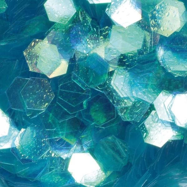 HEXAGONAL Nail Art Design, Ocean