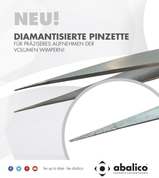 Wimpern-Pinzette gerade / diamantisiert