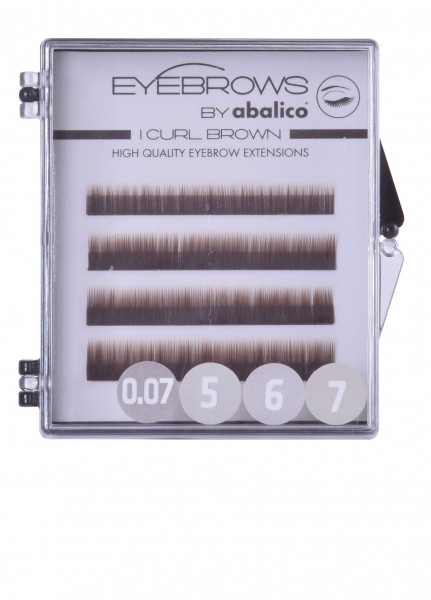 Eyebrows Mixed Tray I-Curl 0,07 brown