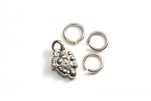 Piercing Ring mit Cirkonia