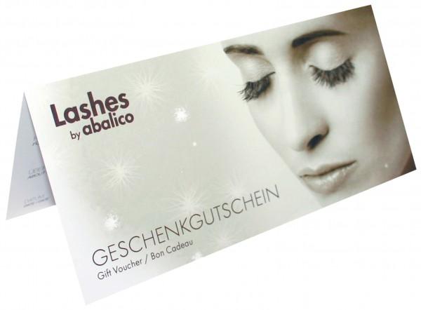 """Geschenk-Gutschein X-Mas """"Lashes by abalico"""""""